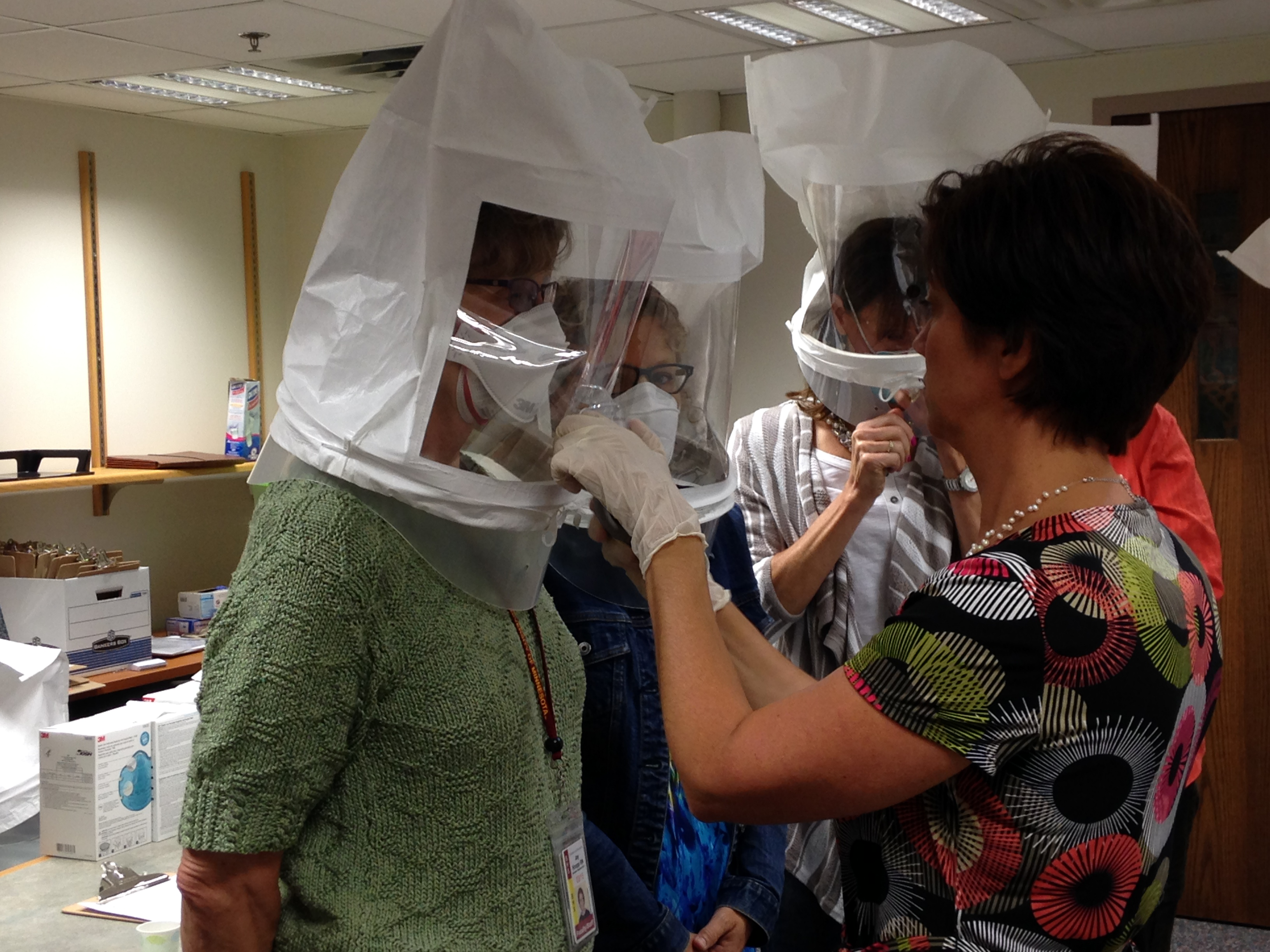 N95 Respirator fit testing of Boyton nurses.