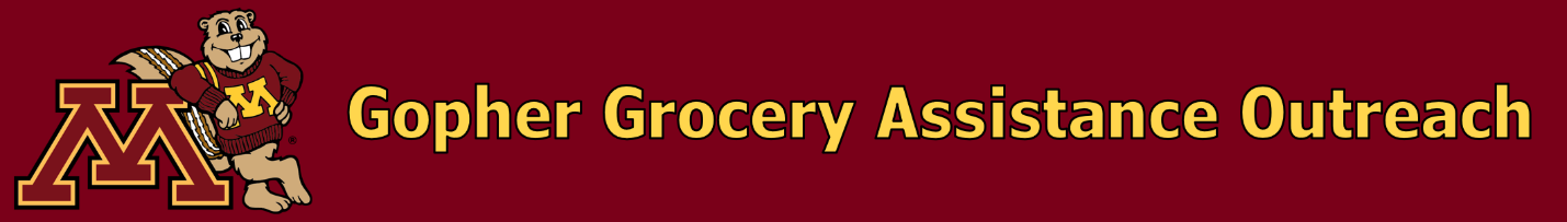 Gopher Grocery Assistance Outreach logo